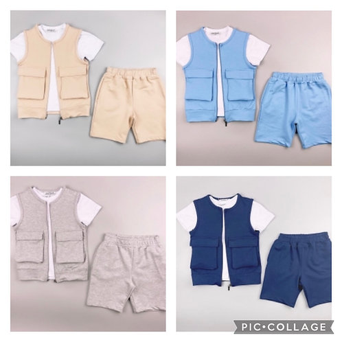 Boys 3 piece gilet set ages 2-10 years