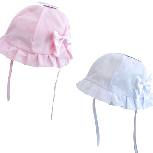 Bow hats 0-24 M pink/white