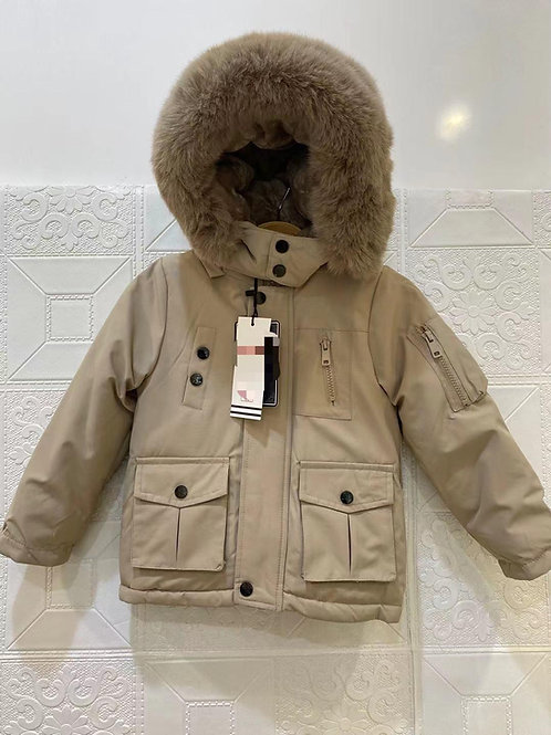 Boys beige hooded coat 1-5 Years