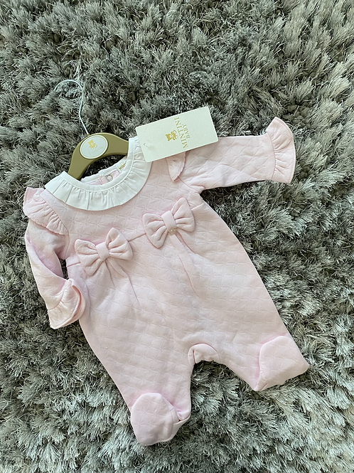 Mintini Baby double bow all in one 1-6 Months