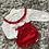 Thumbnail: Ninas y ninos red bloomer set 0-24 Months