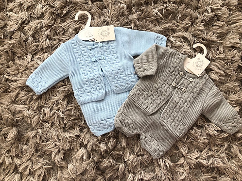 Dandelion cardigan/shorts set 0-12 M