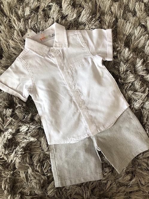 Babybol shirt and grey shorts 9M-3YRS