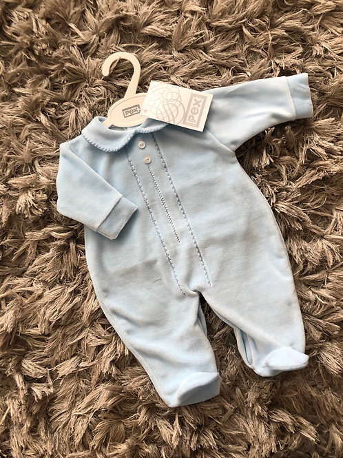 Pex classic sleep suit blue NB-3 Months