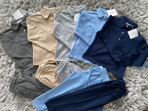 Boys collared co-ord sets 2-10 Years