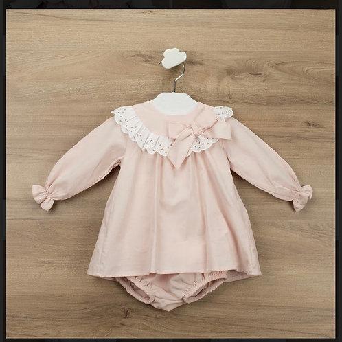 Babidu Pink dress/nappy cover 3-36 Months