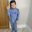 Thumbnail: Powder blue tie waist lounge set ages 2-10 Years