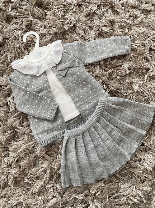 Kinder pleated skirt grey 3-24 M
