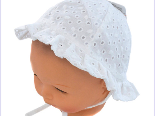 Broiderie Anglaise summer hat 0-24 M