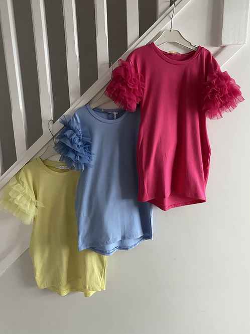 Tulle Ruffle sleeve dress ages 4-14 Years