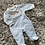 Thumbnail: JTC smocked velour baby grow 0-6 Months