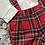 Thumbnail: Ninas y ninos boys red tartan dungaree set 3-24 Months