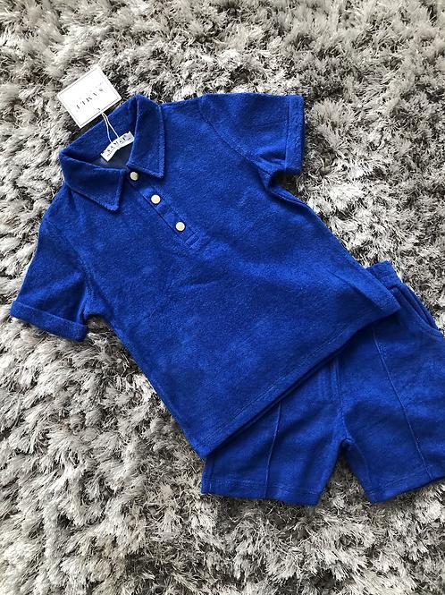 Boys Towlling shorts sets royal blue 2-6 Yrs