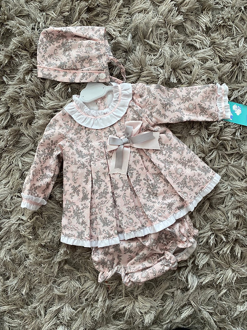 Baby Ferr pink / grey 3 piece set 0-36M