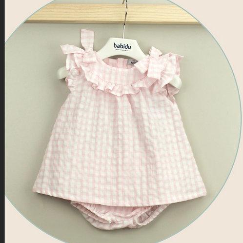 Babidu pink gingham dress