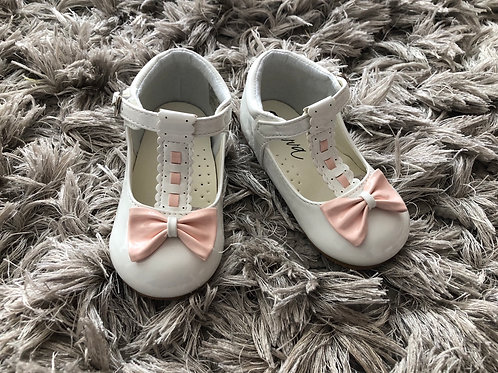 Sevva Emily white/pink shoe 3-6