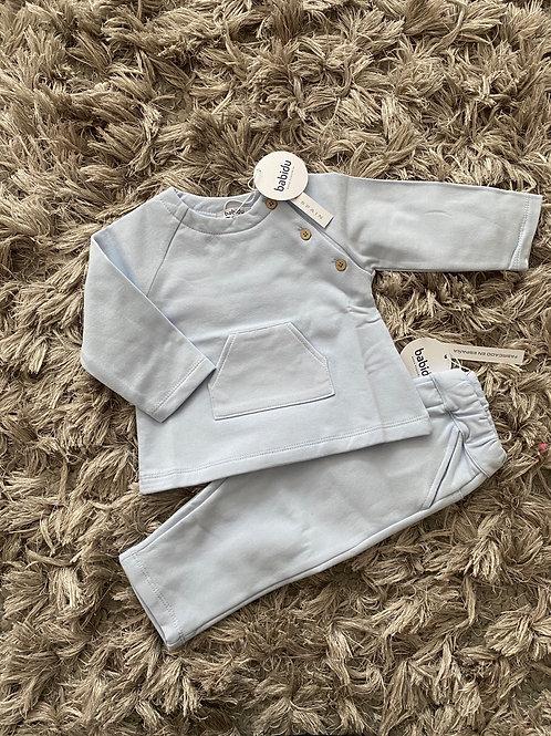 Babidu baby blue jogging set 0-2 Yrs