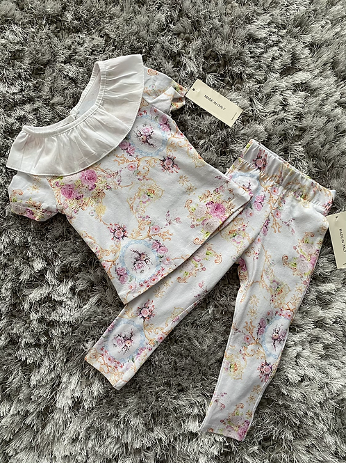Fan collar floral lounge set ages 1-10 Years