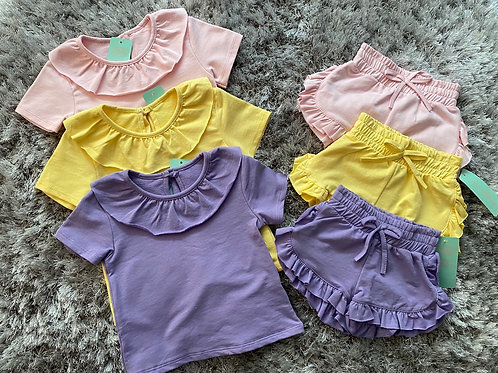 Girls ruffled shorts set Ages 2-12 Years