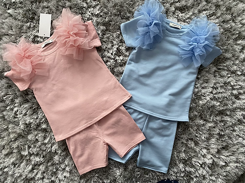 Tulle shorts sets ages 4-14 Years