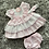 Thumbnail: Pink polka dot tiered dress with headband 0-24 M