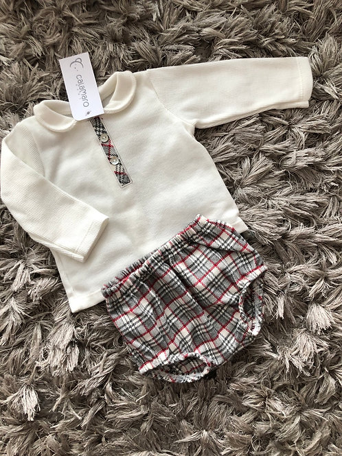 Calamaro chequered shorts set 0-18 Months