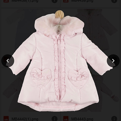 Mintini baby pink heart coat 0-5Yrs