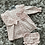 Thumbnail: Babidu pink gingham dress set 3-24 Months