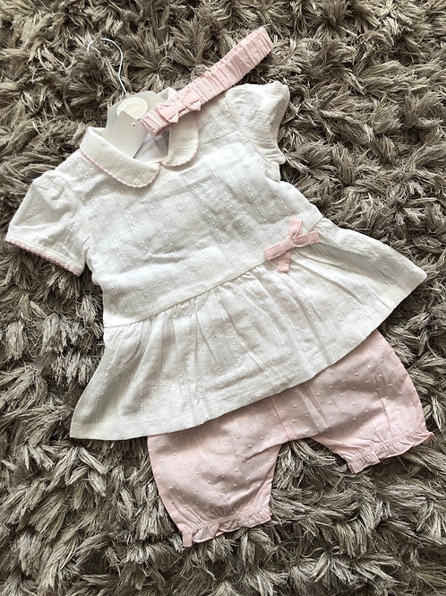 Kris X Kids Dobby dot bloomer set 9-24 M