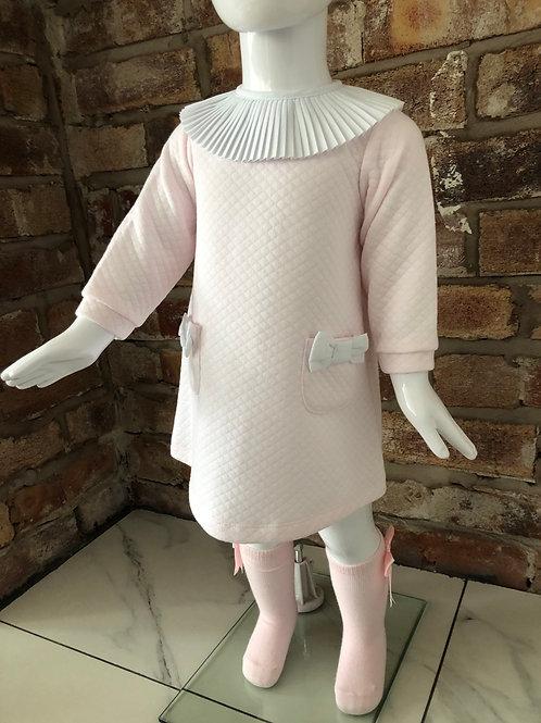 Dulce De Fresa pleated collar dress