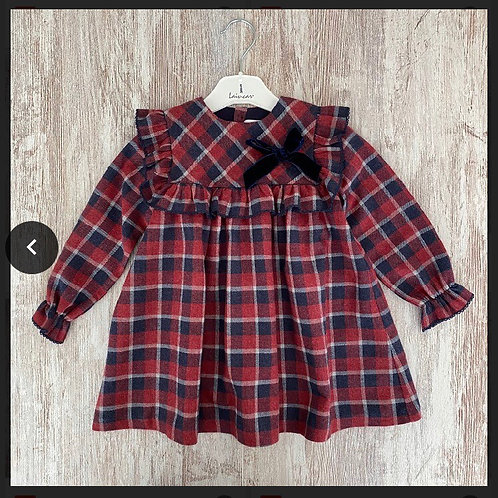 Laivicar red/navy dress 0-24 Months