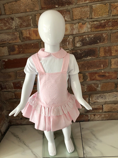Laivicar pink gingham dress 0-24 months