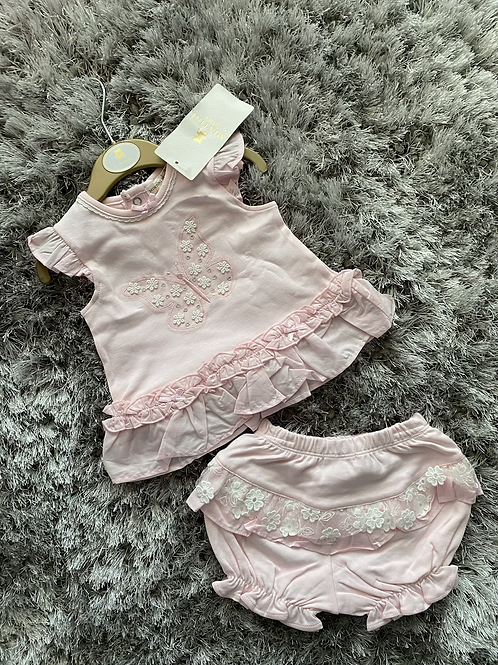 Mintini butterfly shorts set 0-9 Months