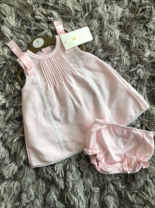 Mintini pink dress and knickers 12-24M