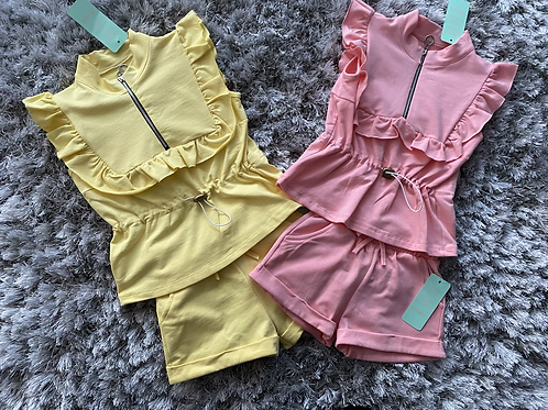Girls toggle shorts sets ages 4-14 Years