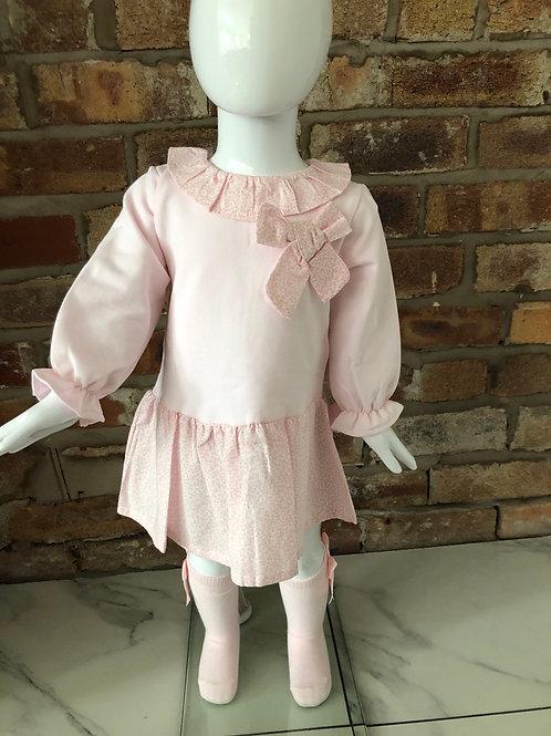 Dulce De Fresa pink bow dress 12-48 M