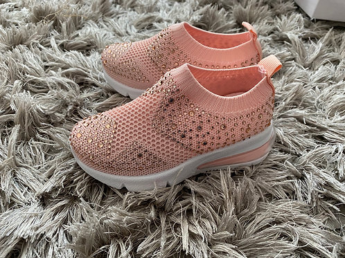 Pink gem stone sock trainer sizes 25-30