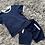 Thumbnail: Boys co-ord top and shorts white striped set 2-10 Yrs