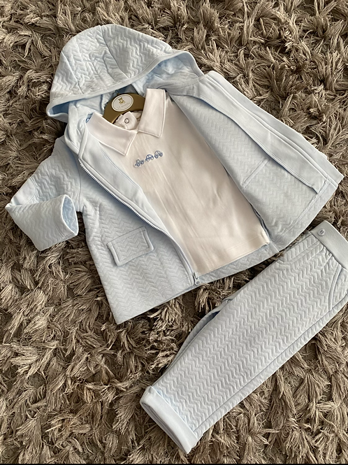 Mintini baby 3 piece blue tracksuit 9-24 Months