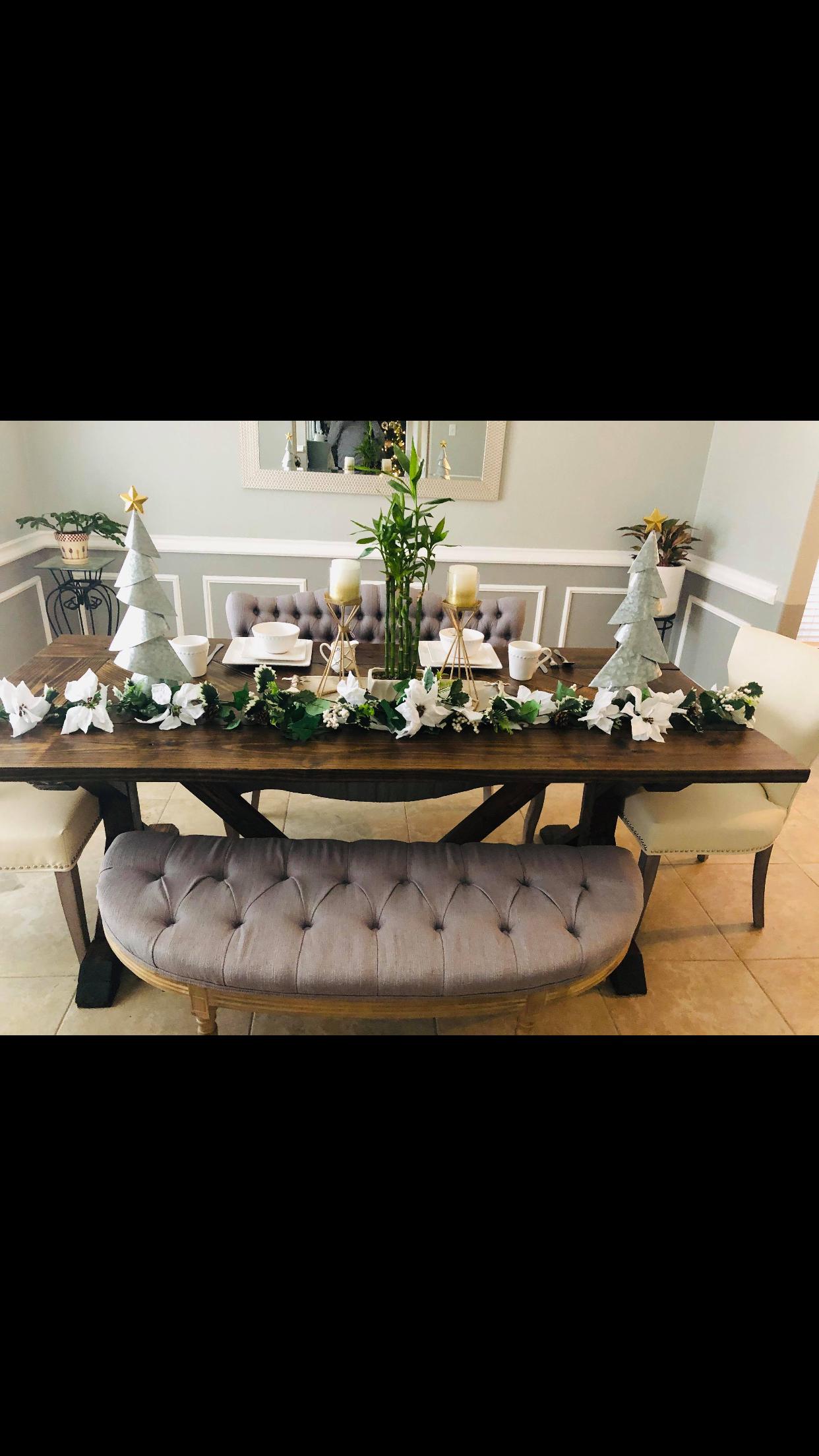 Special Walnut Trestle Table
