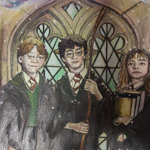 Harry Hermione & Ron