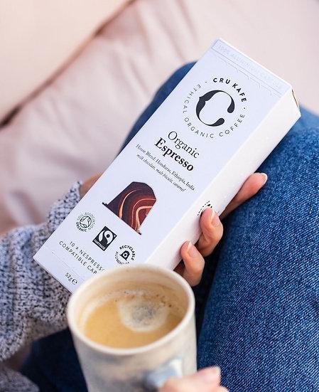 CRU Kafe - Organic Espresso - 10 pack for Nespresso® Machines