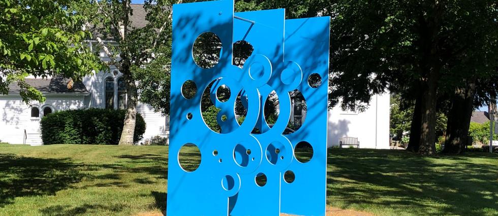 Blue Fizz sculpture by Robert Gregson