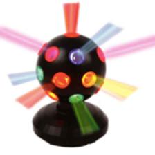 Boule disco multicolore