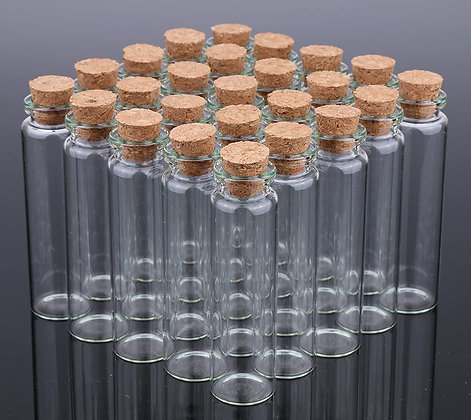 100 - Empty Apothecary Match Bottles With Striker