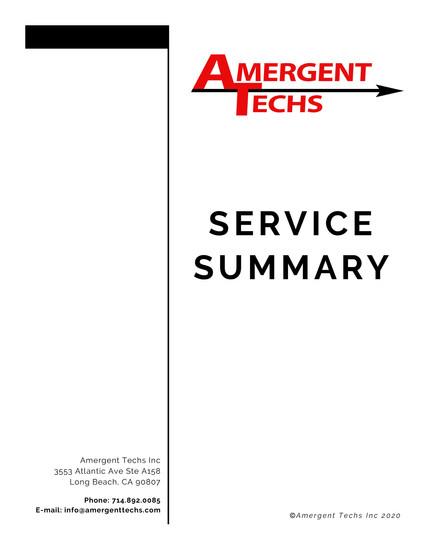 Service Summary