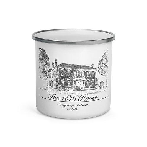 1616 House Enamel Mug
