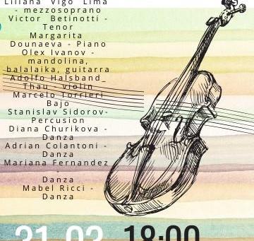 CONCIERTO de Musica Española, Rusa e Ucraniana