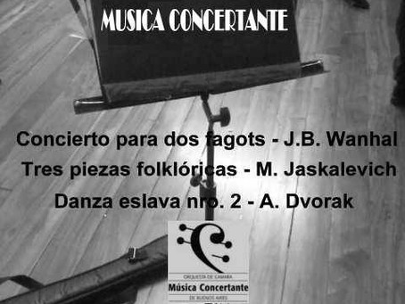 El Maestro Halsband con la Orquesta de cámara Concertante