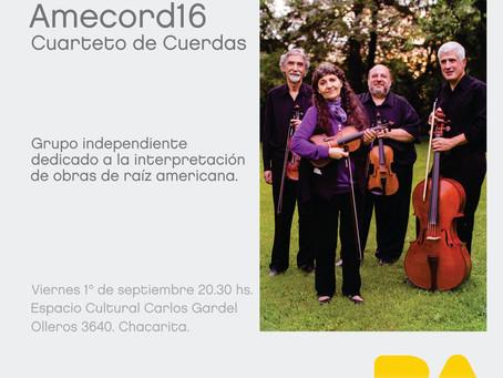 Próximo concierto: AMECORD16 Cuarteto de cuerdas